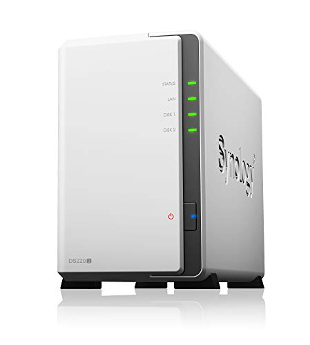 Synology DS220j 2 Bay Desktop NAS-oplossing omheining Enclosure
